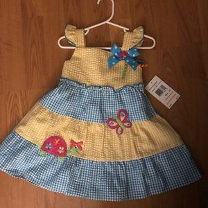 Summer Ginghan Dress NWT 2T